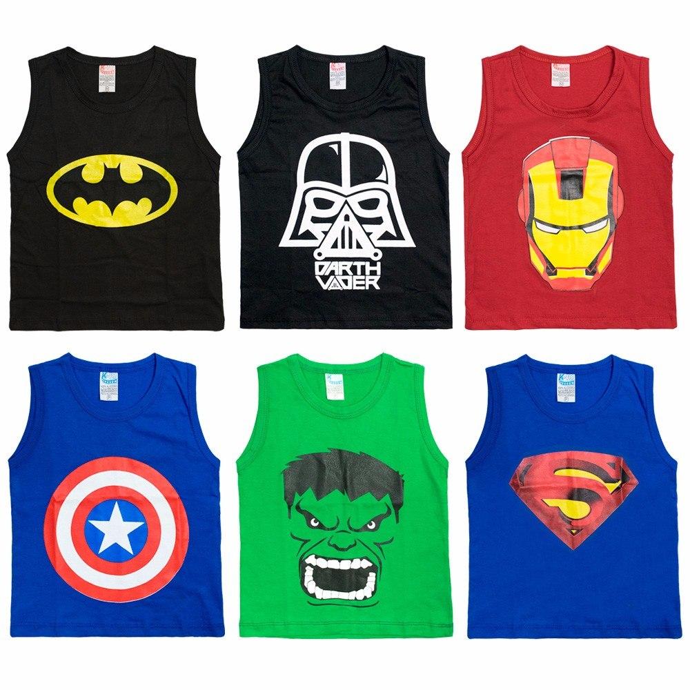 kit 50 camisa camiseta regata infantil homem de ferro batman. Carregando  zoom. 426339408a0