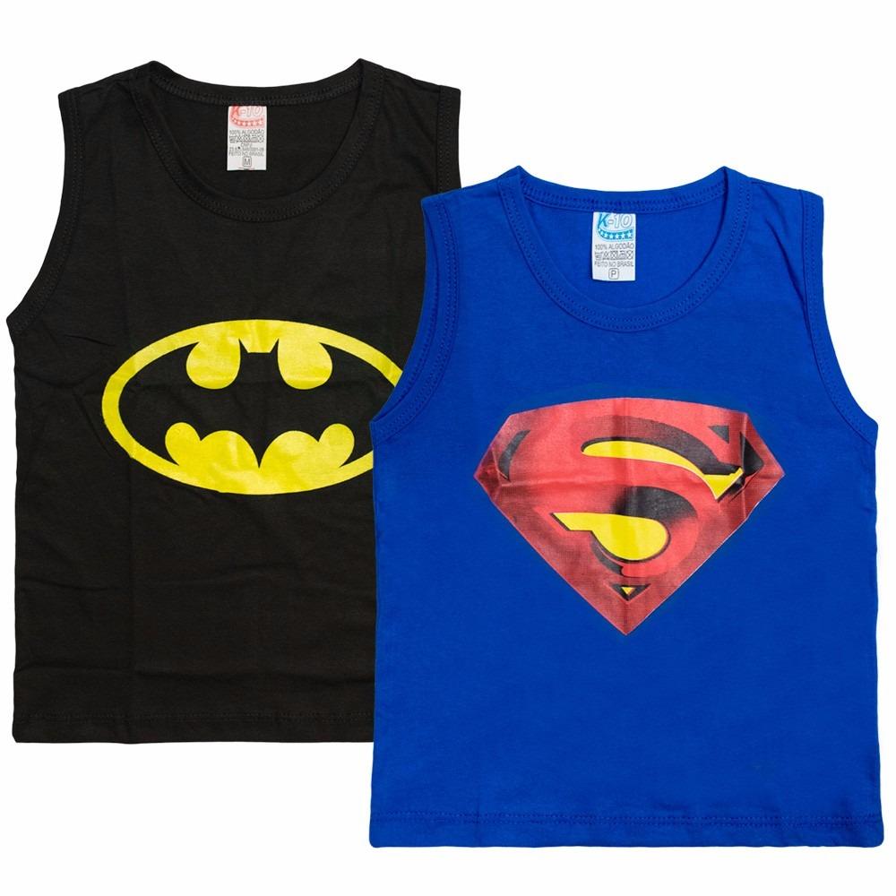 Kit 50 Camisa Camiseta Regata Infantil Homem De Ferro Batman - R ... a6e55100132