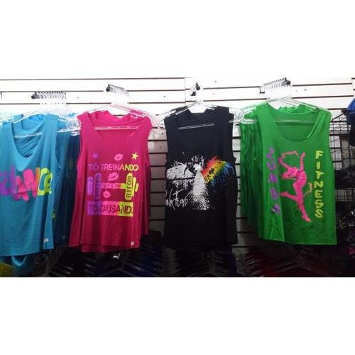 5266f1e4b Kit 50 Camiseta Regata Feminina Fitness Esporte Top Revenda - R  446 ...