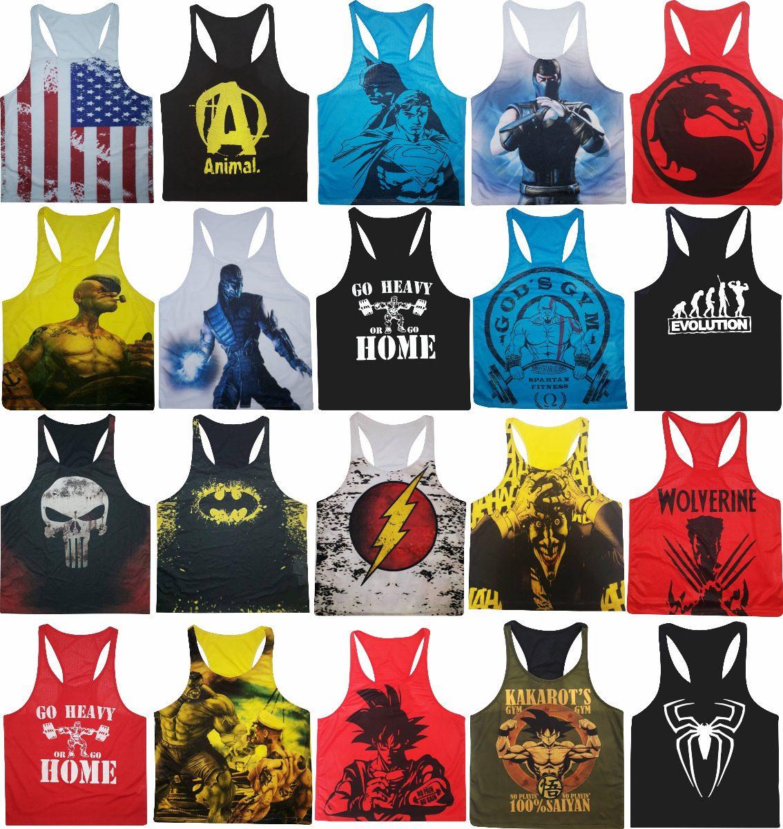 Kit 50 Camiseta Regatas Super Cavada Musculação Academia - R  550 650d1b100e1