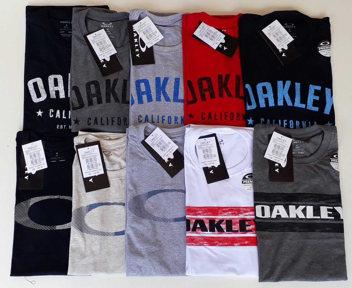 0cd063c8fb Kit 50 Camisetas Camisa Atacado Revenda Oakley Mcd Lost Top - R ...
