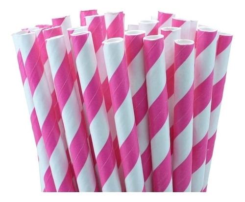 kit 50 canudo de papel para festa aníversário, bares, restau