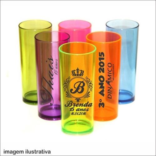 kit 50 copos long drink personalizado frente verso 330ml
