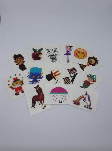 kit 50 doce e tattoo sortidos, diversos e coloridos! atacado