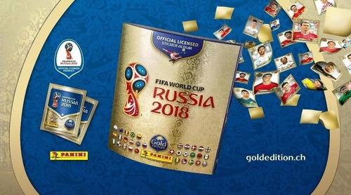 kit 50 figurinhas álbum copa do mundo 2018 gold edition