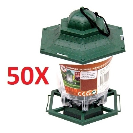 kit 50 lanterna lampião silencioso repelente contra insetos