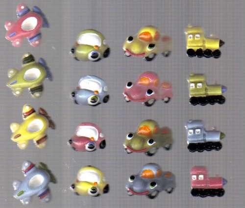 kit 50 lembrancinhas carros  aviãozinho  trenzinho biscuit