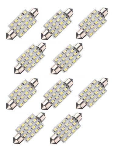 kit 50 lâmpadas torpedo 16 led teto placa revenda atacado