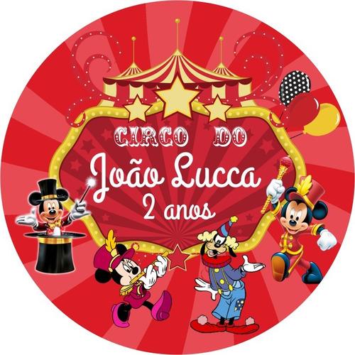 kit 50 marmitinha+50 latinha+50 tubete3d tema mickey circo