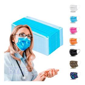 Kit 50 Máscara Facial Cirúrgica Descartável Tripla C Filtro