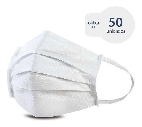 kit 50 máscaras de proteção filtração bacteriana