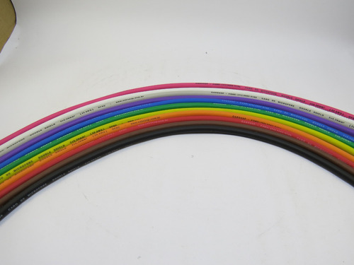 kit 50 metros de cabo colorido de microfone 2x0,30mm