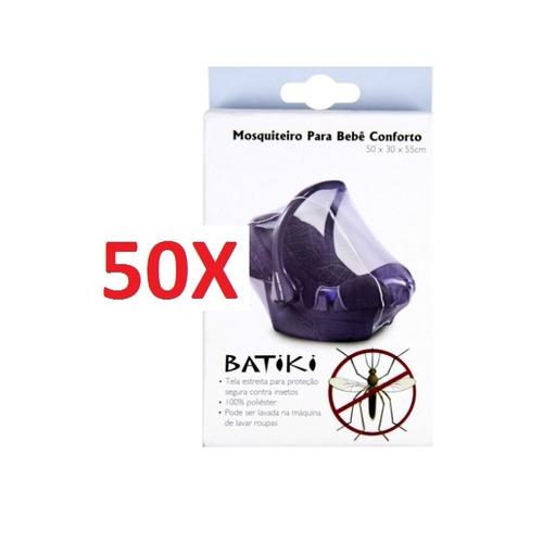kit 50 mosquiteiro bebê conforto carrinho tela protetora