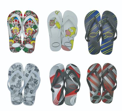 kit 50 pares chinelo masculino sandália promoção revenda
