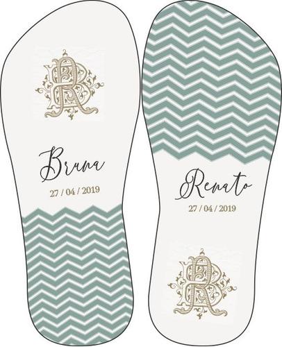 kit 50 pares chinelos personalizados+embalagem brinde
