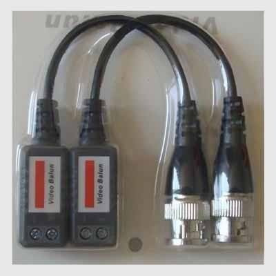 kit 50 pares de conector video balun trançado alcance  600m