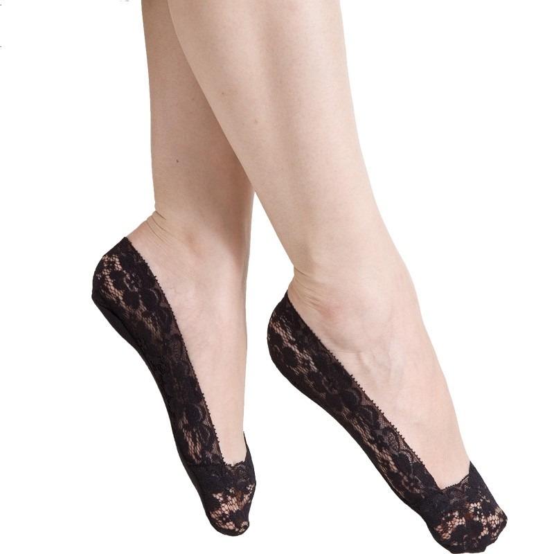 c669d980f3 kit 50 pares meia de renda invisível sapatilha feminina. Carregando zoom.