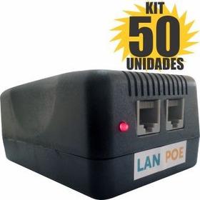 Kit 50 Peças Fonte Poe 24v 3a Bullet Router Board Wireless
