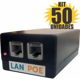 Kit 50 Peças Fonte Poe 48v 1a Bullet Router Board Wireless