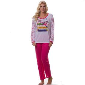 19a6b09a88a402 Kit 50 Pijamas De Malha Para Inverno - Feminino Manga Longa