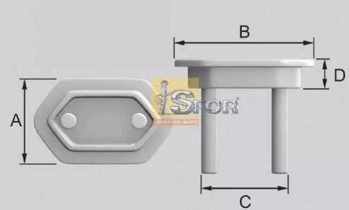 kit 50 protetor de tomada branco sforplast