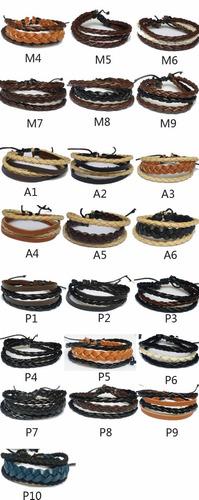 c8f818f583d Kit 50 Pulseira Bracelete Masculina Em Couro Atacado Revenda - R ...