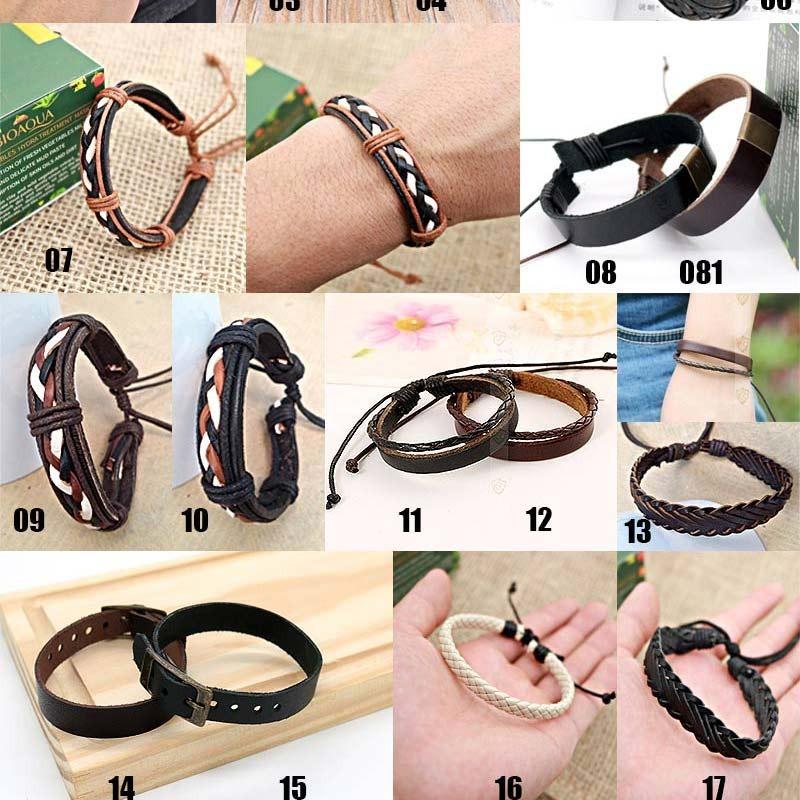 0840c8bfa kit 50 pulseira bracelete masculina em couro atacado revenda. Carregando  zoom.