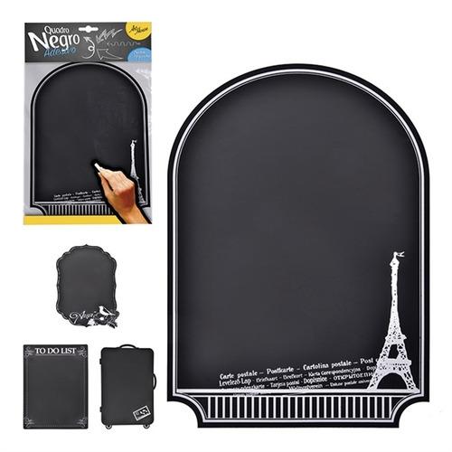 kit 50 quadro negro adesivo mural de recados lousa de aviso