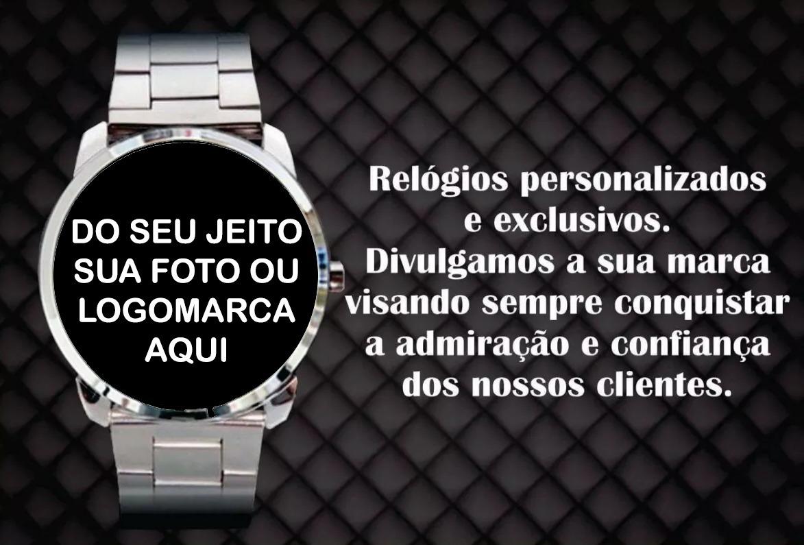 3fb375c784d kit 50 relógios personalizados seu logo marca foto impacto. Carregando zoom.