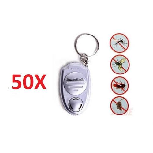 kit 50 repelente eletronico sem tomada chaveiro mosquito