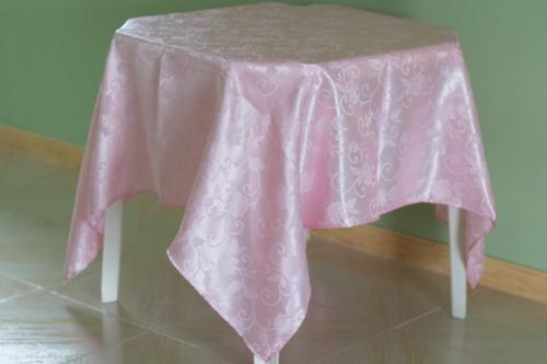 kit 50 toalhas de mesa cetim jacquard 150x150 buffet festas