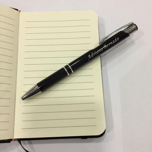 kit 500 caneta metal personalizada brinde gravação a laser