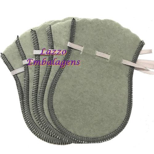 kit 500 sacos de veludo para joias cinza 7x10cm
