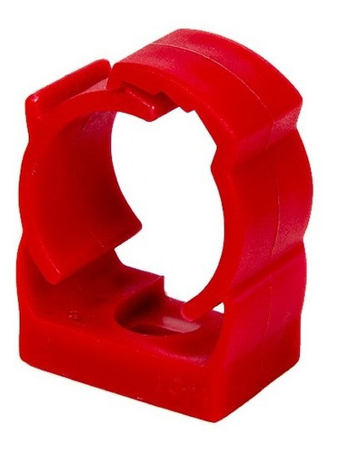 kit 50pçs abraçadeira click 3/4pol verm. p/tubo eletroduto