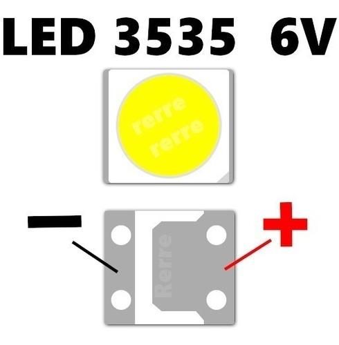 kit 50x  led backlight 6v 2w 3535 p/barras  tv lg - innotek