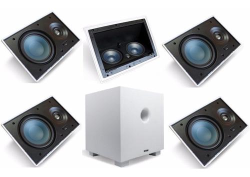 kit 5.1 classic caixas embutir gesso aat home alta qualidade