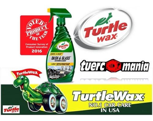 kit 58 ml dash and glass turtlewax +paño microfibra