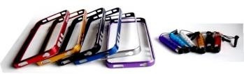 kit 5cor bumper iphone 4/4s c/caneta touch *casa51*