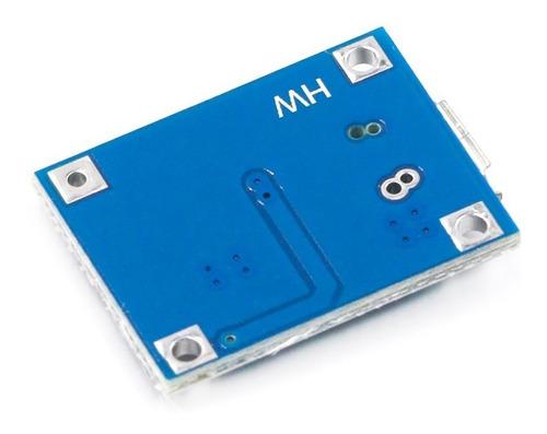 kit 5x mini carregador usb bateria litio 5v tp4056 c/  prote