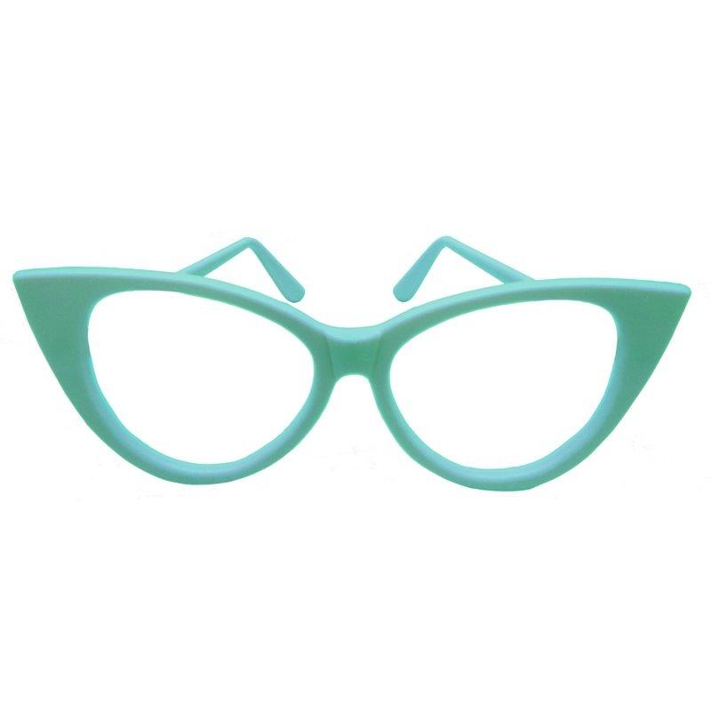 7f977c05f5192 kit 5x oculos gatinho brilha no escuro retro anos 60 festa. Carregando zoom.