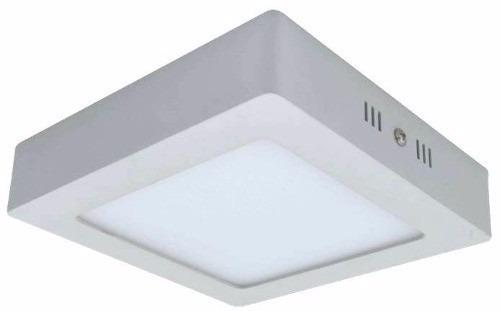 kit 5x painel plafon sobrepor teto led quadrado 25w / 24w