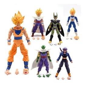 Kit 6 Action Figure Bonecos Dragon Ball Articulado Goku Cell