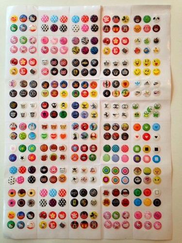 kit 6 adesivos botão home iphone/ ipad - button stick