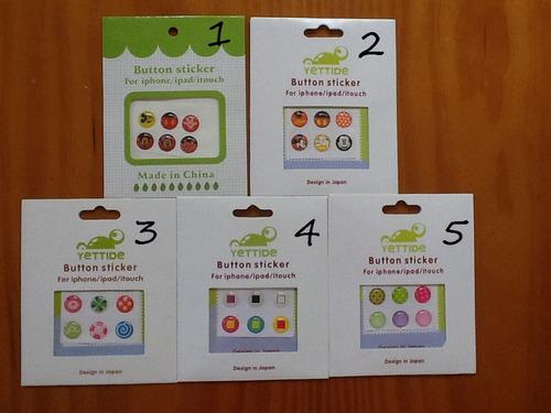 kit 6 adesivos botão home iphone/ipad - button stick