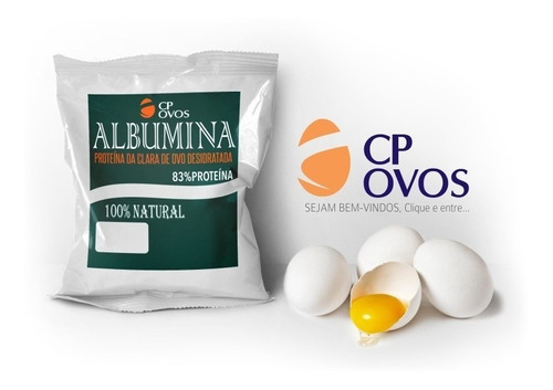 kit 6 albumina pura (500g) - (3kg) cp ovos frete grátis