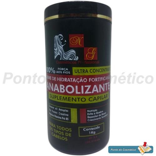 kit 6 anabolizante capilar 1kg fortificante p/ revenda salão