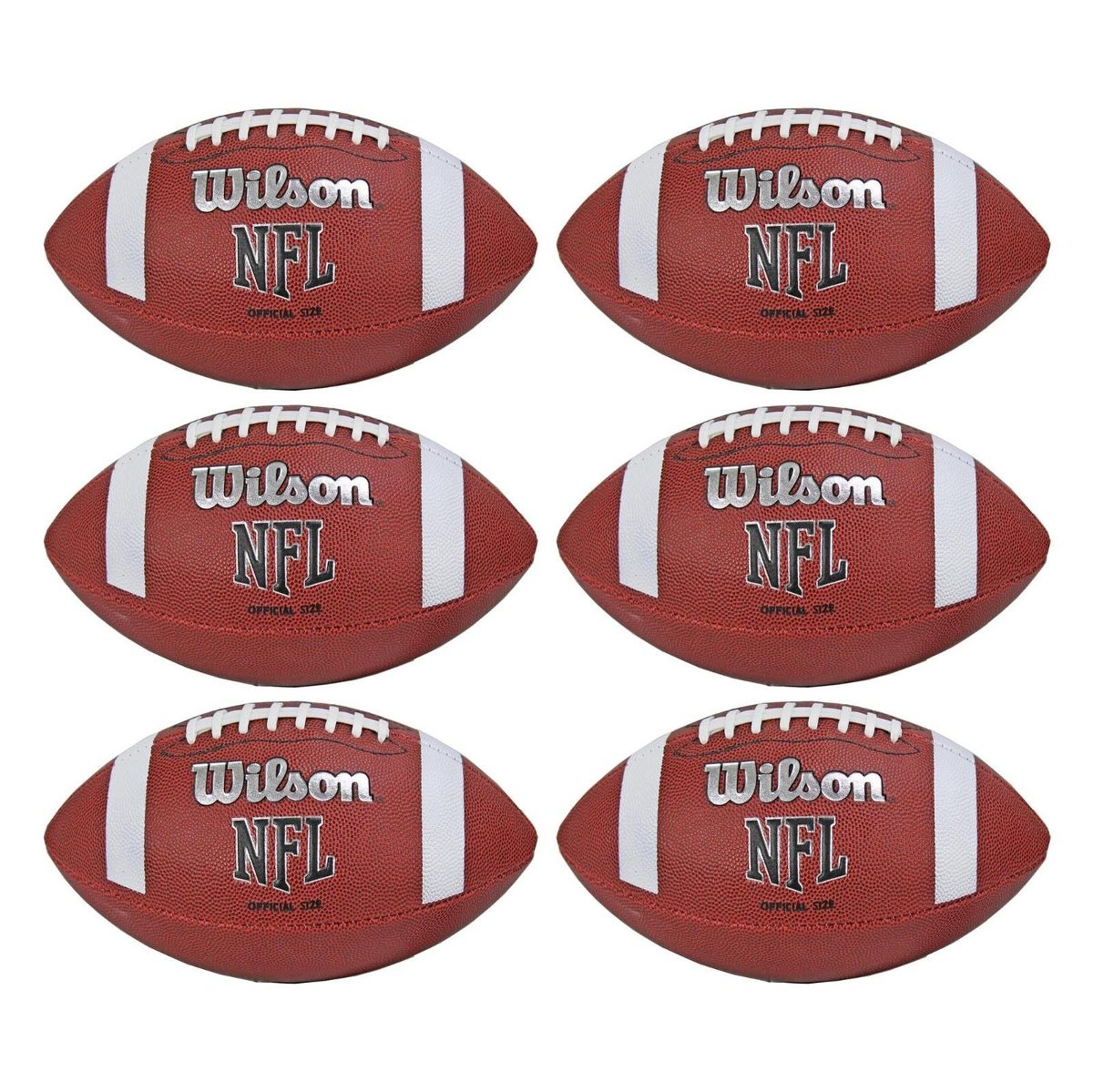 kit 6 balones ovoide fútbol americano tamaño oficial nfl pvc. Cargando zoom. 5d87025787cc1