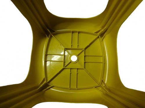 kit 6 banqueta plástica reforçada cap. 120kg amarela
