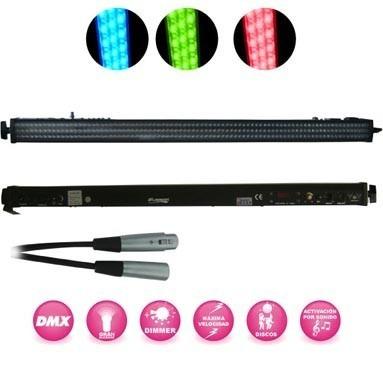 kit 6 barras de leds 8 secciones digital gratis dmx