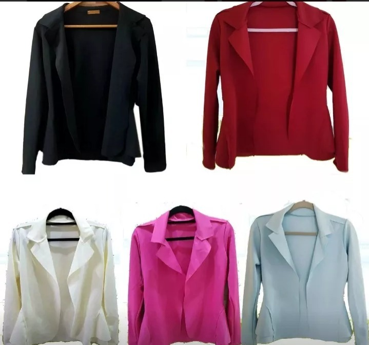 4af281061e Kit 6 Blazer Neoprene Feminino Promoção+frete Grátis - R  197
